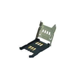 SIM Card Socket Metal Hinge Type , 6Pin with Card Detect