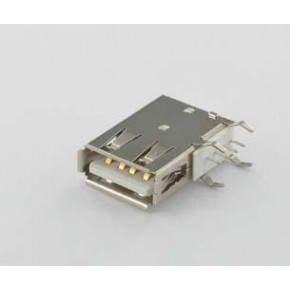 USB Type A Receptacle, DIP for Flank Type